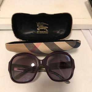 Burberry b4058 3138/8h plum violet sunglasses auth